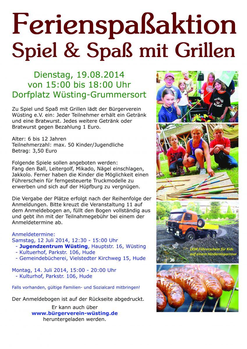 Veranstaltung vom Bürgerverein Wüsting e.V.