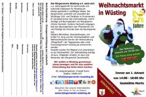Adventsmarkt in Wüsting 2015