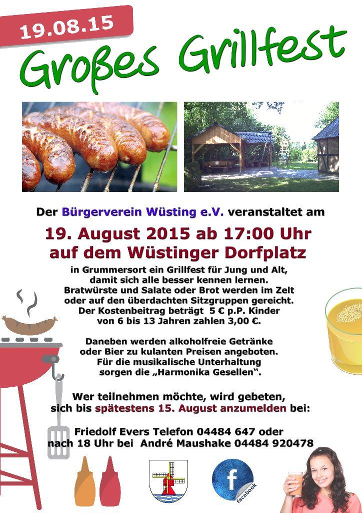 Grillen für Jung und Alt – Wüstinger Dorfplatz – Bürgerverein Wüsting e.V.