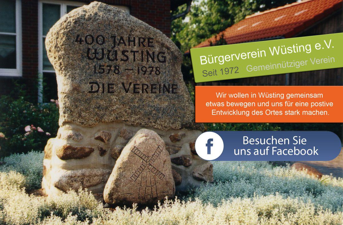 Neuer Slogan vom Bürgerverein Wüsting e.V.