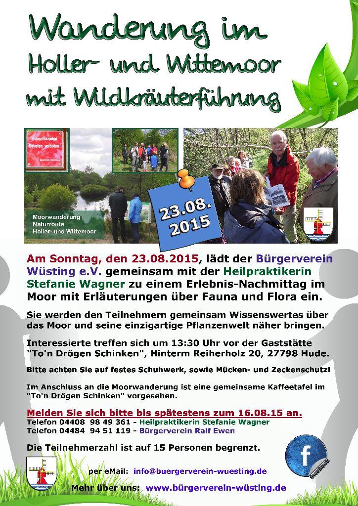 Moorwanderung im Holler- und Wittemoor mit Wildkräuterführung - Bürgerverein Wüsting e.V.